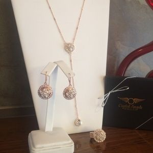 SALE! New rose gold matching jewelry set